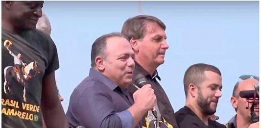 Podendo retornar à CPI da Covid, Pazuello aparece sem máscara em ato pró-Bolsonaro